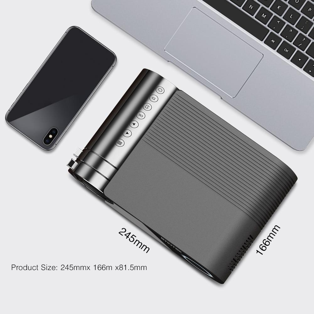 Image 2 - Byintek K9 ミニプロジェクター、 hd 720 p 1080 led ポータブルマイクロホームシアター (オプションのマルチスクリーン iphone アプリ電話タブレット)液晶プロジェクター   -