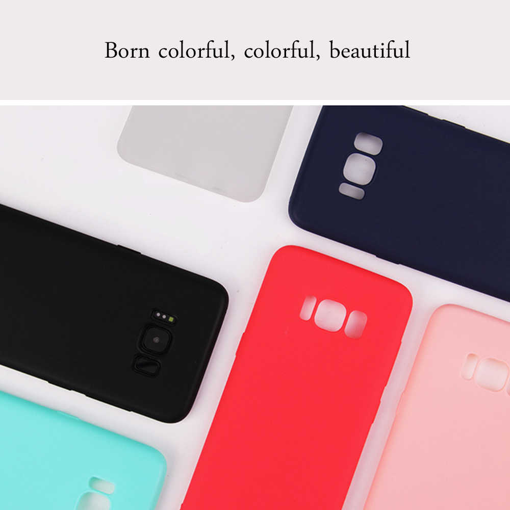 Silicone Candy Color Case for Samsung Galaxy S9 S8 Plus J3 J5 J7 2017 Ultra Slim TPU Soft Phone Cover For Samsung Note 9 8 Capa