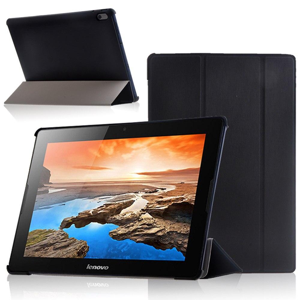 Чехол из искусственной кожи для A7600 10,1 дюймов, подставка для планшета, защитный чехол для Lenovo Idea Tab A10-70 A7600 A7600-h, A7600-f + ручка