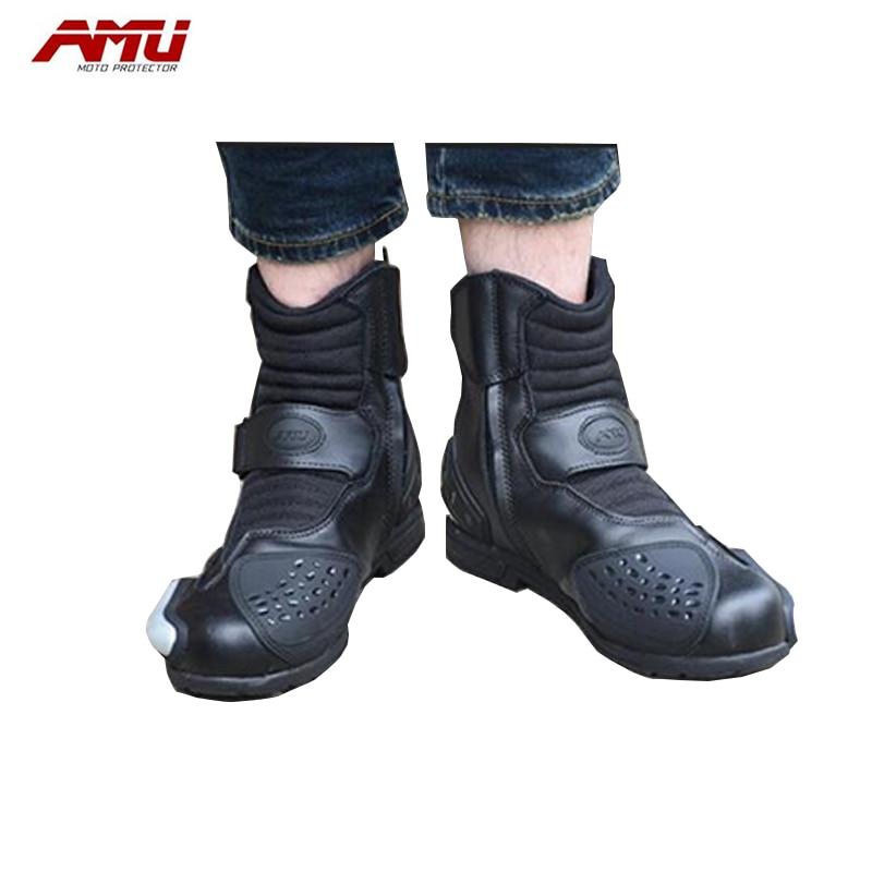 Bottes d'équitation moto AMU bottes de locomotive bottes respirantes imperméables XBT10