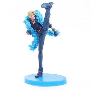 20 см аниме одна деталь Vinsmoke Санджи 20th юбилей фигурку синий S ПВХ Рисунок Модель игрушки куклы Подарочные brinquedos Лидер продаж