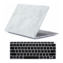 Marble Matte Shell Cover & Keyboard Cover for New Macbook Air 13 inch Case 2018 Release A1932 with Retina display & Touch ID