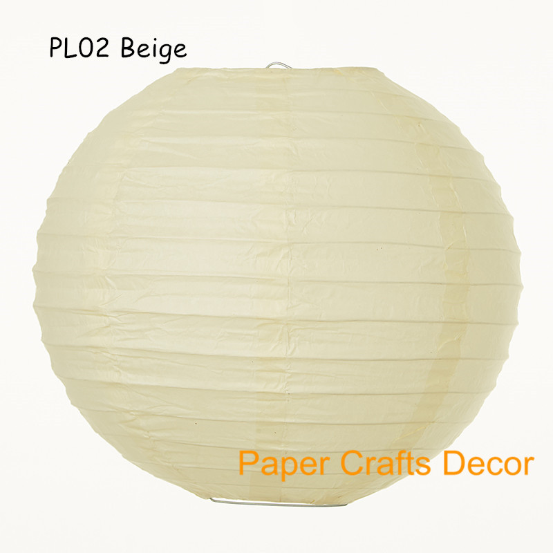 16inch 40cm 8pcs Lot Gold Large Round Chinese Hanging Paper Lanterns Indoor Outdoor Wedding Party Event Decorations In From Home Garden On