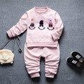 2017 Осень-Весна baby boy девушка одежда Детей Случайный Спортивный Костюм 2 шт. наборы для новорожденных детская одежда детская одежда