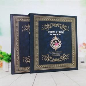 Image 3 - 6 zoll 500 Blätter Retro Boxed Fotoalbum Einfügen Sammelalbum 4R Kinder Album Hause Paare Hochzeit Alben Foto Hause Dekoration