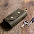 Handmade Fashion cow leather key case leather key chain men's car key holders Vintage Leather Key bag