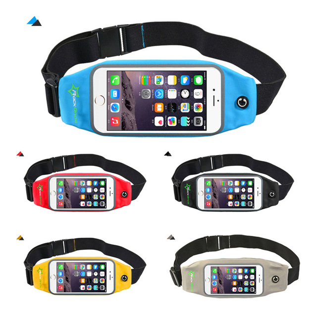 ROCKBROS Waterproof Running Bag Waist Bag Sport Belt Bags 5.8-6 Inch Phone Pouch Case Bags For IPhone 6 7 Plus Sport Accessories 6