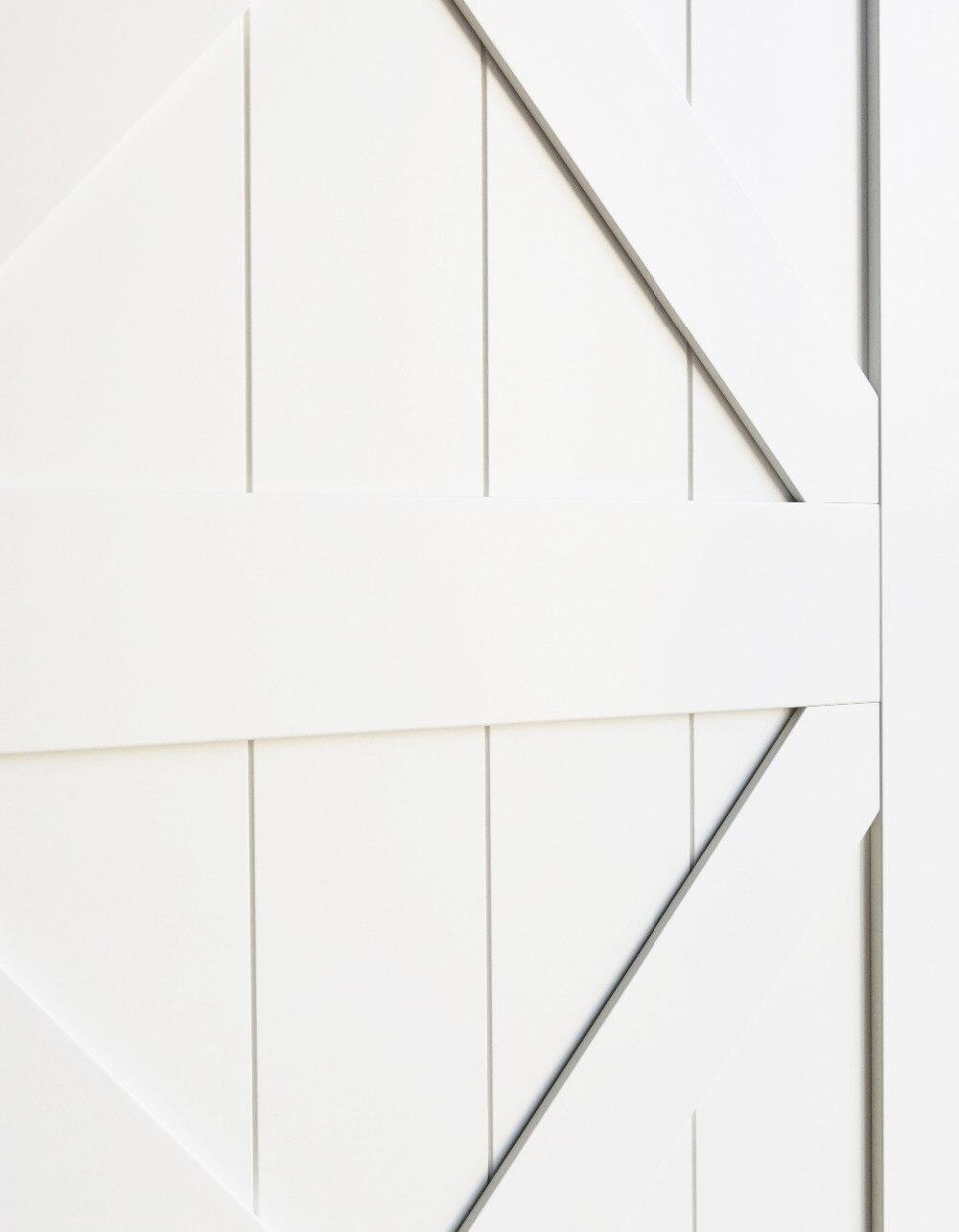 DIYHD Double X forme blanc grange porte dalle MDF solide noyau apprêté intérieur panneau de porte (démonté) - 2