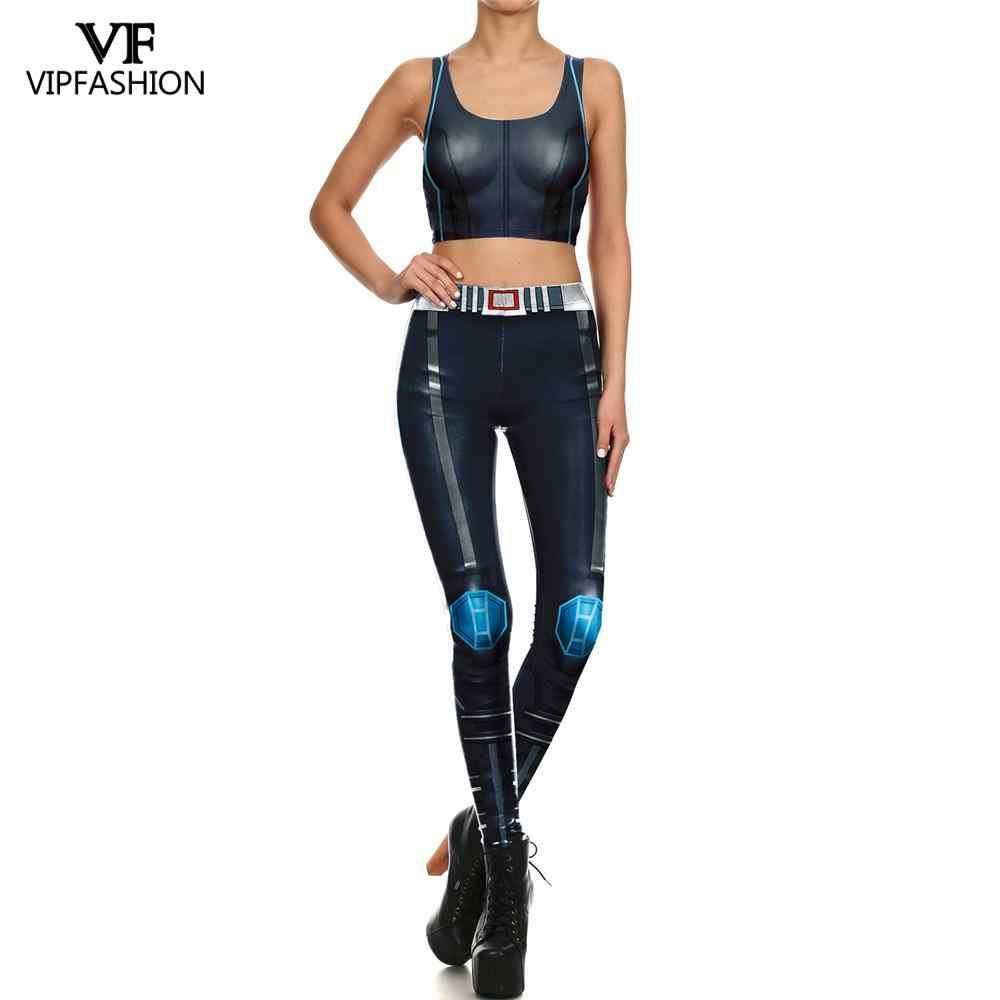 Moda vip 2019 nowości Marvel kobiety legginsy 3D drukowane Hero garnitury Legging trening Fitness legginsy sportowe dla pań