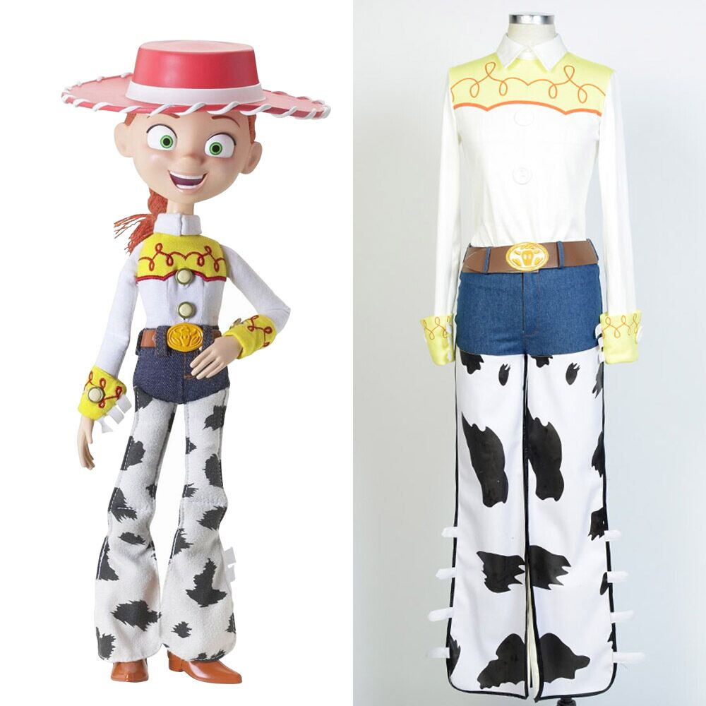 2016 Toy Story The Yodeling Cowgirl Jessie Top Pants Outfit Full Set Adult Halloween Cosplay Costume Custom Made сумка jessie