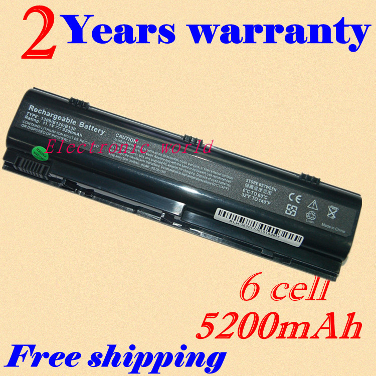 JIGU New 5200mAh Battery For Dell Inspiron B120 B130 1300 Latitude 120L HD438 KD186  XD187  0XD184 XD184  312-0416