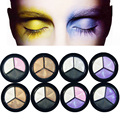 3 color Different New Fashion Professional Natural Pigment Eyeshadow Palette Cosmetic Makeup Eye Shadow for women makeup