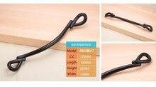 10Pcs Modern Concise Design Curve-Shaped Style Black Zinc Alloy Cabinet Handle( C:C: 128MM L: 190MM )