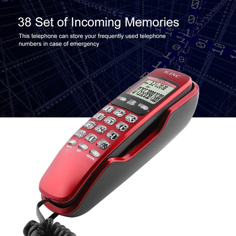 Wall-Telephone Lcd-Display Office Hotel Mini Dual-Caller Home KX-T888CID For Black Red