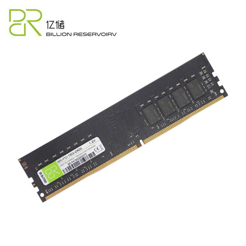 BR Nouvelle UDIMM Memoria DDR4 4 gb BÉLIERS 1.2 v 2400 mhz Pour Intel DDR4 8 gb 16 gb RAM mémoire DIMM 288pin Pour Ordinateur De Bureau Jeu Ram - 2