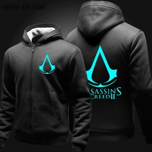 assassin's Creed hoodies luminous fleece zipper thincken sweatshirt Wholesale revolution black flag gaming coat