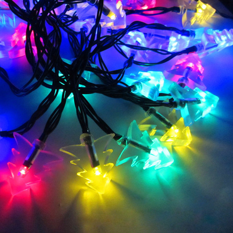 20 LED Garland Solar Battery Lamp Garden Decoration Lights String Fairy Crystal S Yard Room Rooftop Christmas Tree