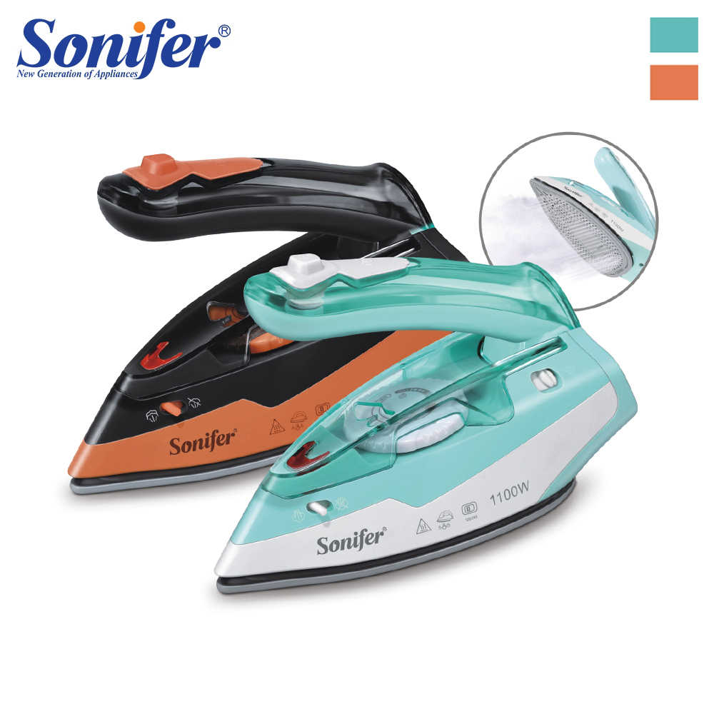 110V-240V Electric Iron Steam Flatiron For Clothes High Quality Multifunction Ceramic Soleplate Laundry Appliances Sonifer