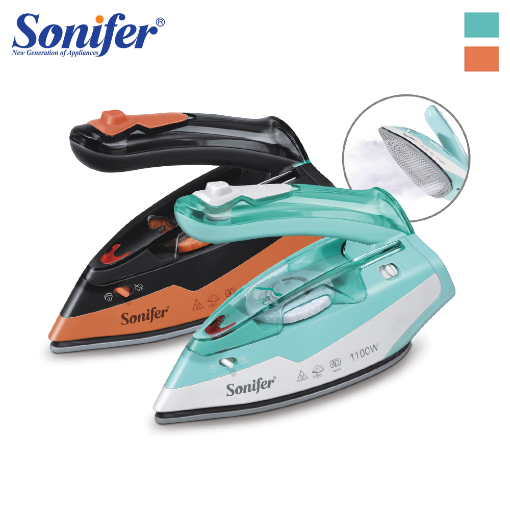 110V-240V Electric Iron Steam Flatiron For Clothes High Quality Multifunction Ceramic Soleplate Laundry Appliances Sonifer110V-240V Electric Iron Steam Flatiron For Clothes High Quality Multifunction Ceramic Soleplate Laundry Appliances Sonifer