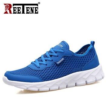 REETENE 2019 Cheapest Air Mesh Men'S Shoes Summer Casual Men Shoes Fashion Leather Casual Shoes Men Sneakers Sandals 37-47