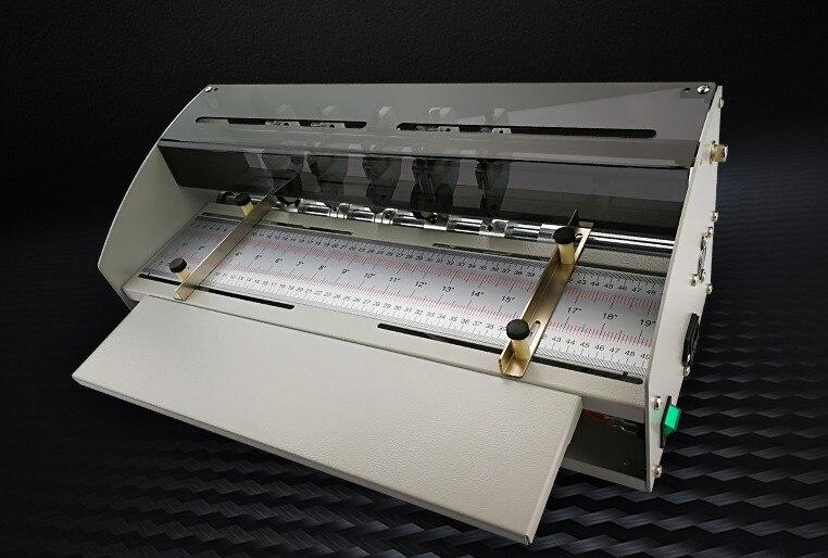 Unparteiisch 2019 Upgrade 18,5 Zoll 470mm Elektrische Papier Creaser Scorer Perforator Cutter Combo Papier Schneiden Rillen Perforieren Maschine Bindemaschine