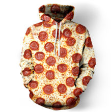 3D Full Print Pizza Hoodies Men/Women Sweatshirt Hooded Autumn Winter Casual Loose