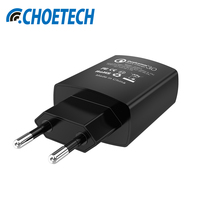 QC 3 0 USB Fast Charger CHOE 18W Quick Wall Travel Charger UK Pug With