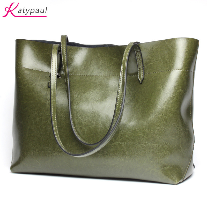 2017 Real Cow Leather Ladies HandBags Women Genuine Leather bags Totes Messenger Bags Hign Quality Designer Luxury Brand Big Bag