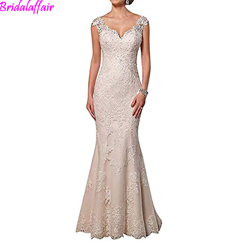 2019 Womens Sweetheart Neck Lace Mermaid Wedding Dresses Bridal Gowns Vestidos De Noiva vestido de casamento