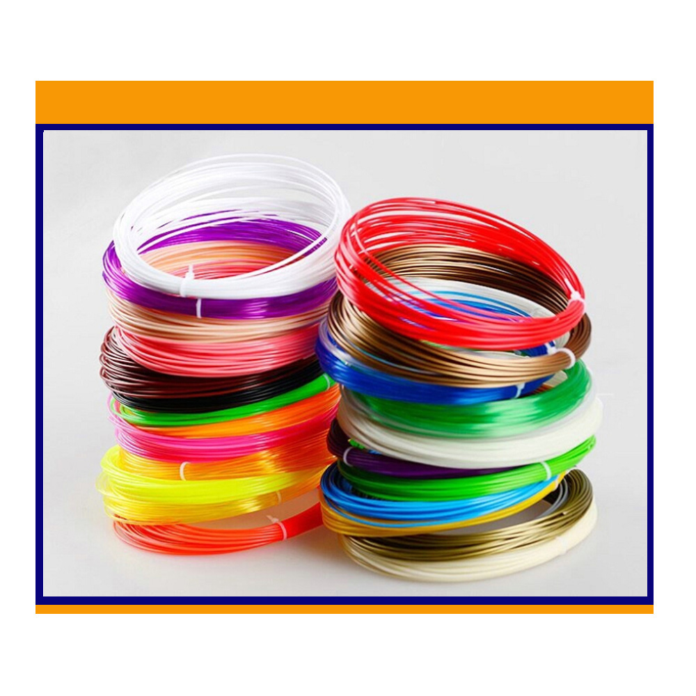ABS Filament Printing 1.75mm  Materials Plastic 10 Mete  Colorful Rainbow For 3D Printer Pen /5 Pieces (Min. Order) 10