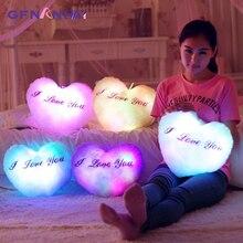 Светящиеся игрушки, мигающий плюшевый светодиодный светильник, светящаяся Подушка, разноцветный набивной плюшевый, творческие подарки, игрушки для детей, девочек, детей