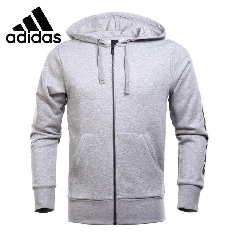 Original New Arrival 2018 Adidas ESS LIN FZ FT Men's jacket Hooded Sportswear толстовка ess hooded jacket tr