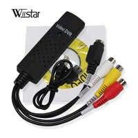Nueva llegada USB 2,0 Easycap captura 4 canales Video TV DVD VHS Audio Captura tarjeta adaptador TV Video DVR envío gratis
