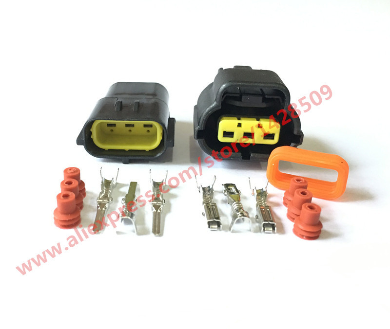 Lot of 20 Kit Waterproof Electrical Wire Cable 3 Pin Way Connector Plug