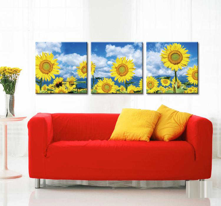3 Panel Wall Painting Sunflower Home Decor Art Picture Paint On Canvas Prints Combination Rustic Decors Paintings Set Unframed Paint On Canvas Art Picturespanel Wall Aliexpress