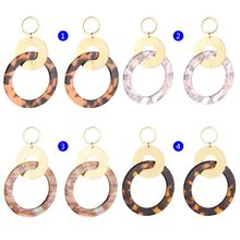 Acrylic Earrings Round Ring Dangle Geometric Fashion Personality Pendant Women Jewelry Gifts Resin Atmosphere Exaggerate Stateme