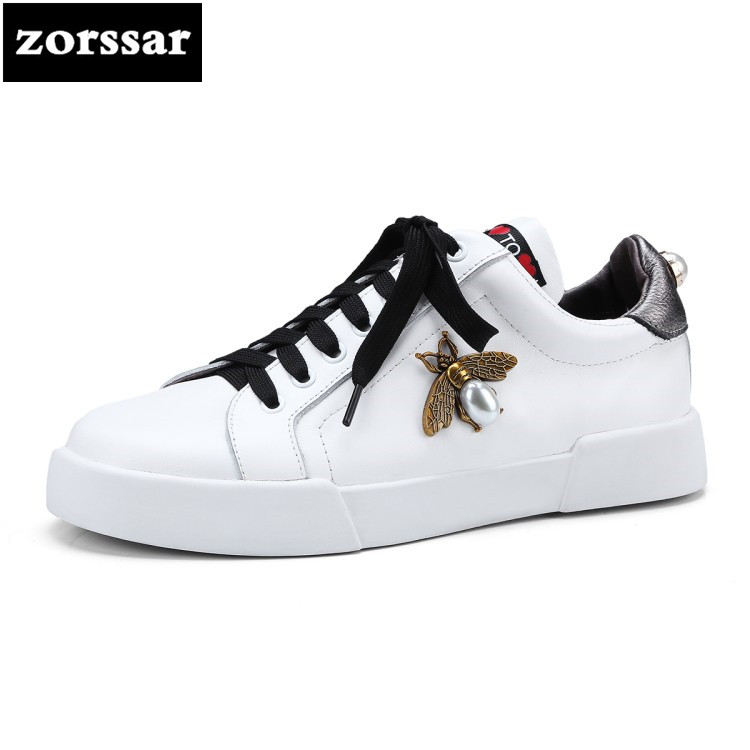 {Zorssar} 2018 New Spring Autumn Genuine Leather Casual Women sneakers Flats Walking shoes fashion female shoes Big size 44 xiuteng 2018 s