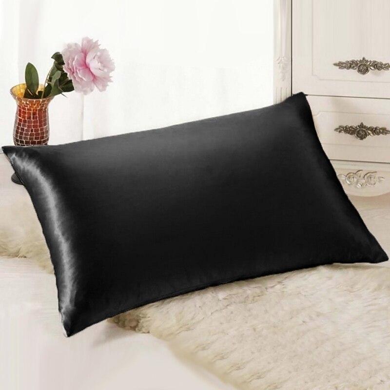 Reine Emulation Seide Satin Kissenbezug Einzelnen Kissen Abdeckung 5 Farbe Verfügbar Moderne Einfache Kissenbezug Für Home Zimmer Bett Werkzeuge 1392
