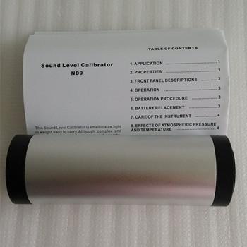 ND9A miernik poziomu dźwięku kalibrator poziom hałasu mikrofonów 94dB 114dB możesz o nich nadmienić mikrofonów tanie i dobre opinie 40 ~ 130dB niusiwen 94dB 114dB 0 3dB 1000Hz 1 x 9 V 6F22 Battery (Not included) 142 * 47 * 47mm (5 6x1 85x1 85 inches)