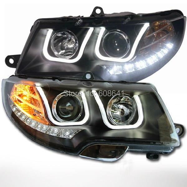 For VW for <font><b>Skoda</b></font> <font><b>Superb</b></font> <font><b>LED</b></font> Head Lamp Angel Eyes 2010-12 U Style