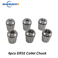 Free Shipping ER32 Collet Spindle Drill Chuck Tool Holder For Router 6pcs ER32 Lathe Toll Chuck For CNC Milling Machine