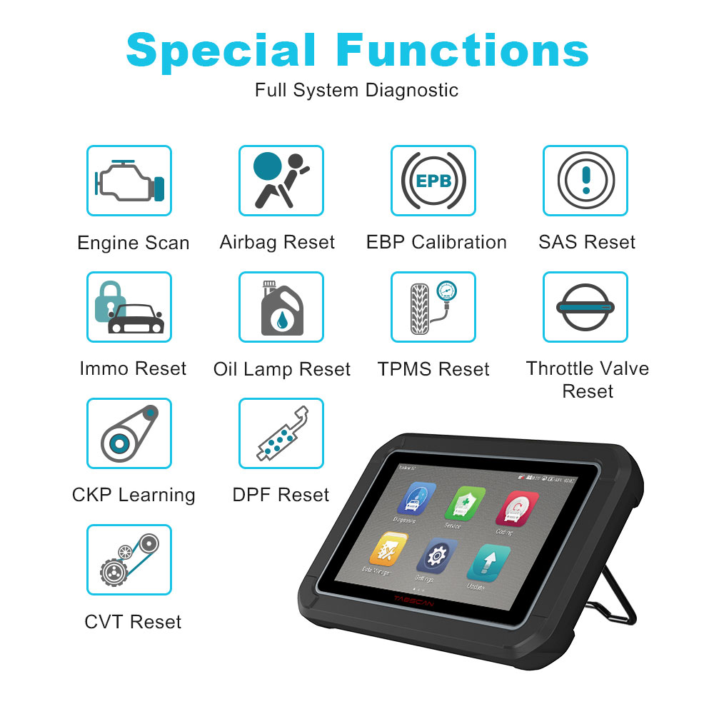 Image 3 - EUCLEIA TabScan S7C OBD 2 Automotive Scanner Professional Car Diagnosis DPF EPB TPMS Oil Service Reset ODB2 Car Diagnostic Tool-in Engine Analyzer from Automobiles & Motorcycles on