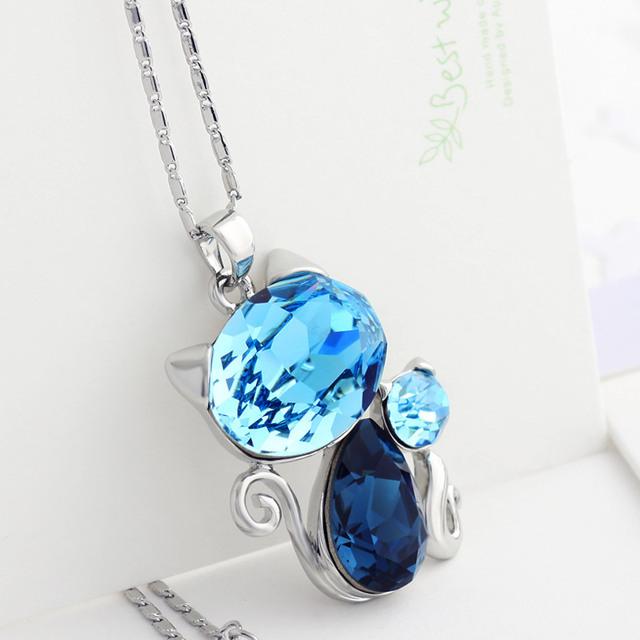 Swarovski Crystal Long Charm Necklace