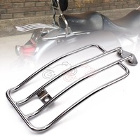 For Harley Sportster XL 85 03 Motorcycle Solo Seat Luggage Carrier Support Shelf Frame Rack With Stock Chrome Steel Painted 1pcs