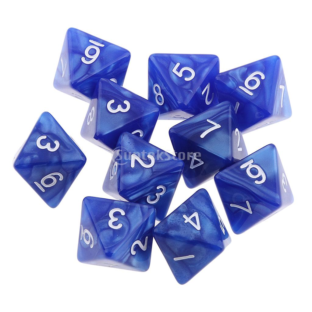 20pcs Acrylic D8 8-Sided Game Dice Die for D/&D TRPG Board Games Party Supply