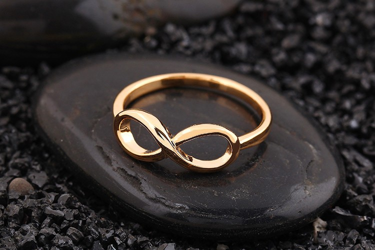 Gold Color Infinity Ring