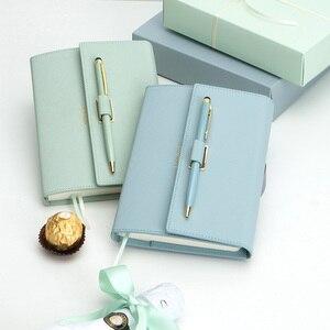Image 3 - Bella Tasca Formato 42 K Ragazza Diario Planner Notebook Nuovo Regali di Colore Macaron Notebook con le Penne di Cancelleria Regali