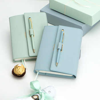 Lovely Pocket Size 42K Girl Diary Planner Notebook New Gifts Color Macaron Notebook with Pens Stationery Gifts