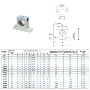 Image 5 - 20 ชิ้น/ล็อต SK12 12 มิลลิเมตร linear แบริ่งเพลารองรับ XYZ Table CNC Router SH12A