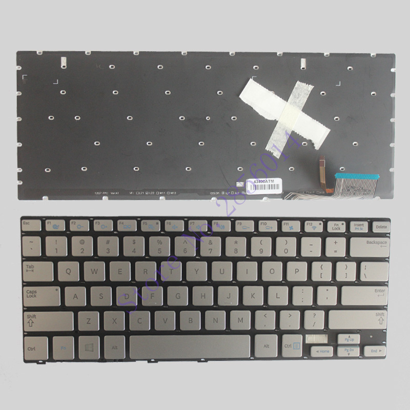 NEW US laptop Keyboard for Samsung 7 Ultra 730U3E NP730U3E 740U3E NP740U3E silver US keyboard BacklightNEW US laptop Keyboard for Samsung 7 Ultra 730U3E NP730U3E 740U3E NP740U3E silver US keyboard Backlight